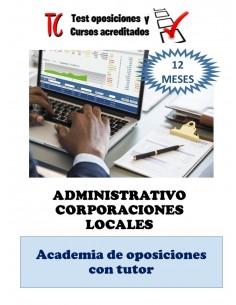 academia online administrativo corporación local temario completo