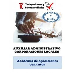 academia online auxiliar administrativo corporacion local temario completo