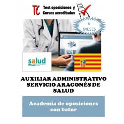 academia online oposiciones auxiliar administrativo servicio aragones de salud