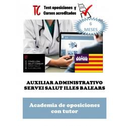 academia online oposiciones auxiliar administrativo servei salut illes balears