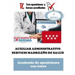 academia online oposiciones auxiliar administrativo servicio madrileño de salud