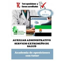 academia online oposiciones auxiliar administrativo servicio extremeño de salud