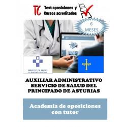 academia online oposiciones auxiliar administrativo servicio de salud de asturias