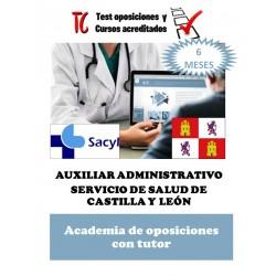 academia online oposiciones auxiliar administrativo servicio de salud de castilla y leon